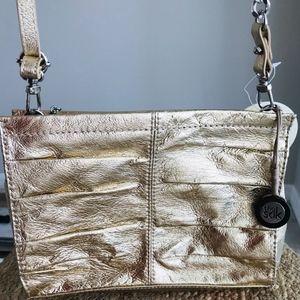 The Sak Charleston Leather Purse New Gold-NWT